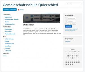 Internetseite Schule